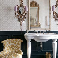 Bathroom Sink with Ornate Lighting