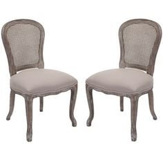 AT HOME by O -Riveria Antiqued Oak Finish Taupe Side Chairs (Set of 2) sears.com