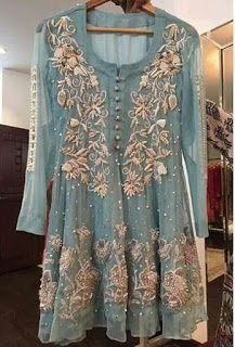 Embroidery Round Neck Regular Long Sleeve Mid-Length Blouse – co-zy-free Party Wear Dresses, Bridal Dresses, Design Textile, Desi Clothes, Pakistani Bridal, Pakistani Party Wear, Indian Bridal, Festival Looks, Pakistani Outfits