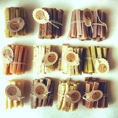 50 Cinnamon Walnut Soap Sticks Bulk Batch of 50 by prunellasoap