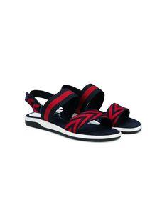 ddc47e676 Gucci Kids sandalias con motivo de chevron Flat Sandals