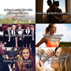 Just girly things- hhahahaah except for the over protective thing because i got no boy friend!! hahaha