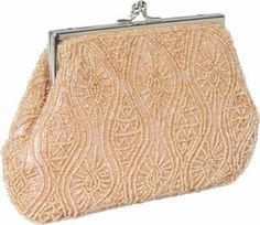 Moyna Handbags Clutch - Taupe Moyna Handbags Beaded Evening Clutch - TaupeMaterial: 100% Silk with Glass Beads Evening Bags, Moyna Handbags, Fabric Handbags, Clutches