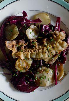 Almost Christmas Dinner - Beetroot and Jerusalem Artichoke Salad