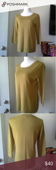 Halogen  100% wool Beautiful comfy sweater with 3/ 4 sleeves. 100 % merino wool. Halogen Sweaters