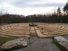 Labyrinth--I would love to do one of these in my backyard with flowers and plants in between--a peace garden!