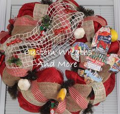 Awesome Crawfish Wreath made to order just in time for the Crawfish festival in Breaux Bridge, Louisiana. Hand Made Fleur De Lis with Crawfish Festival History Pics. Burlap, gingham ribbon, mesh, netting, corn on the cob, Tabasco, Swamp wreath, alligator wreath, crawfish wreath, fleur de lis wreath, Louisiana wreath, Cajun wreath, crawfish boil decor,