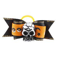 Crânio Halloween Estilo minúscula Borracha Laço de Cabelo Banda para Gatos Cães – BRL R$ 2,05
