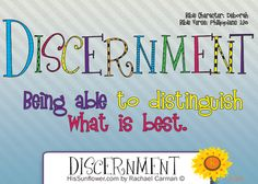 Character Quality: Discernment - Being able to discern is a character quality that can be developed if we choose to engage, grow, and change. Character Traits For Kids, Character Qualities, Teaching Character, Character Counts, Object Lessons, Bible Lessons, School Lessons, Lessons For Kids, Bible Study For Kids