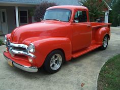 1954 CHEVY Chevy Trucks Lowered, Chevrolet 3100, Old Pickup Trucks, Chevy Pickup Trucks, Hot Rod Trucks, Chevy Pickups, Chevrolet Trucks, New Trucks, Custom Trucks