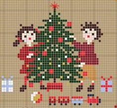 Collection Bonheurs d'enfance - Noëlgrille point de croixcréation Perrette Samouiloff
