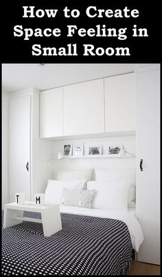 Astounding Small Bedroom Storage Ideas in Contemporary Bedroom with Black Colored Blanket whi. Astounding Small Bedroom Storage Ideas in Contemporary Bedroom with Black Colored Blanket which has Little White Dots Small Bedroom Storage, Small Master Bedroom, Small Bedroom Designs, Storage Spaces, Closet Storage, Small Storage, Double Bedroom, Extra Storage, Bedroom Storage Solutions