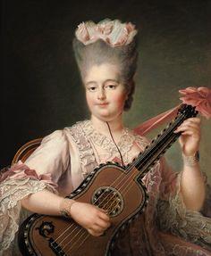 Retrato de Marie Clothild retrato de Marie  reina de Sardinia (1759-1802). François Hubert Drouais (1727-1775).