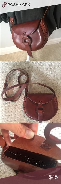 Crossbody bag Small brown leather crossbody bag with adjustable strap. NWOT. Never used. Bags Crossbody Bags