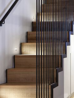 modern ideas for stair protection made of metal steel wooden staircase stair railing stair railing parapet parapet height Modern banisters and fall protection - fall protection for stairs Hiltrud Schwarzer Rahimatrudi Treppen mode Wooden Staircase Railing, Modern Stair Railing, Stair Railing Design, Stair Decor, Modern Stairs, Banisters, Railing Ideas, Stair Treads, Black Staircase