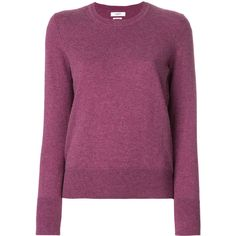 Isabel Marant Étoile crew neck jumper (5 410 UAH) ❤ liked on Polyvore featuring tops, sweaters, purple jumper, crew sweater, slim fit crew neck sweater, heart sweater and slim sweaters