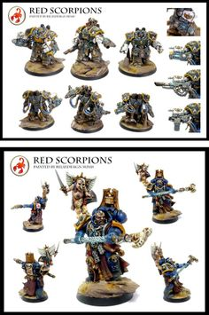 Relaxdesign Minis, 20,000 pts of Red Scorpions. Recent additions: Ltd ed Captains.