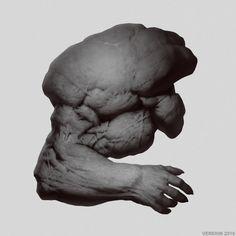 Arm Design by Verehin on DeviantArt Concept Art World, Monster Design, Sketch Inspiration, Creature Concept, Anatomy Reference, Drawing Poses, Art Portfolio, Horror Art, Creature Design
