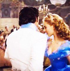 Ella's and Kit's dance. Gif. Cinderella 2015. Kenneth Branagh.