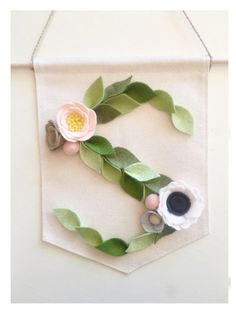 LEAFY LETTER BANNER // Initial Banner // Monogram by HoneyCrown