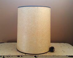 Beige Fiberglass Cylinder Shape 14 1/2 Inch  Lampshade by GladStoneatHome on Etsy