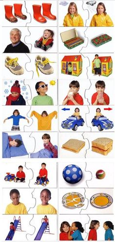 puzzle_contrarios Montessori Activities, Infant Activities, Educational Activities, Preschool Activities, Kids Class, Math For Kids, Speech Language Therapy, Speech And Language, Learning Through Play