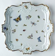 Anna Weatherley - Giftware- Trays - Square Tray from DeVine Porcelain Dinnerware, Porcelain Ceramics, China Porcelain, Square Tray, China Painting, Deco Table, Chocolate Pots, Antique China, China Patterns