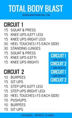 Total Body Blast At Home Workout | Posted By: CustomWeightLossProgram.com