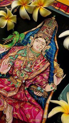 Kerala Mural Painting, Tanjore Painting, Lord Hanuman Wallpapers, Shiva Parvati Images, Spiritual Paintings, Scratchboard Art, Shiva Art, Sacred Feminine, Durga Goddess