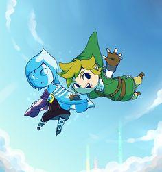 Skyward Sword in Wind Waker's style, super cute!