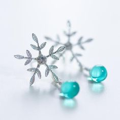 Snow droplets earring