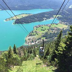 Die Farben 🎨😍 #bayern #bavaria #herzogstand #karwendel #beautiful #germany #walchensee #shorttrip #travel #wanderlust #seilbahn