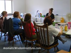 These ladies were ready to learn how to get rid of their toxic commercial cleaners and make their own with simple ingredients! http://aromaticwisdominstitute.com/our-classes/green-cleaning-essential-oils