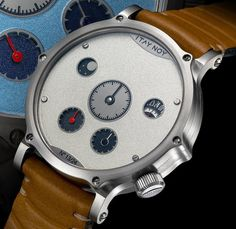 """Itay Noy Part Time Watch - by Rob Nudds - see more about it now: http://www.ablogtowatch.com/itay-noy-part-time-watch/ """"In a studio in Tel-Aviv, the creative mind of Itay Noy conceives made-to-order timepieces that are sure to catch the eye. His latest offering – displayed at Baselworld 2015 – is the Itay Noy Part Time. Available in four color schemes, limited to 24 pieces each, the concept of the Itay Noy Part Time is simple..."""""""