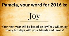 What is your word for 2016?