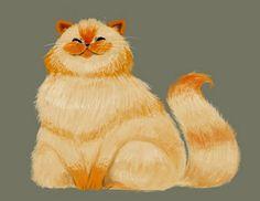Artwork by Gabby Zapata. #cats #art #cute