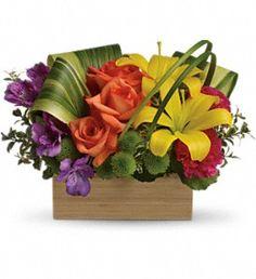 Teleflora's Shades Of Brilliance Bouquet in Astoria NY, Petals & Roots