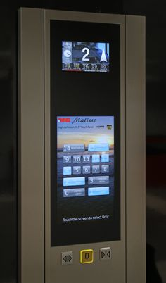 "This full height column with applied tempered glass panel includes a 21,5"" touch panel featuring impressive Full HD background video."
