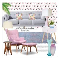 """Mid century...."" by nihal-imsk-cam on Polyvore featuring interior, interiors, interior design, ev, home decor, interior decorating, D.L. & Co., Levtex ve Pacific Coast"