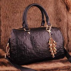 Womens black leather shoulder bags $109.00 - Out of stock