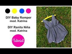 Baby Bib Tutorial, Romper Tutorial, Diaper Cover Pattern, Baby Romper Pattern, Sewing For Beginners Diy, Diy Baby Gym, Diy Romper, Diy Vestido, Diy Diapers