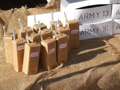 army themed birthday party for kids | walkie talkies for kids army party