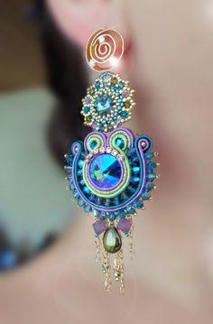 Soutache Earrings Serena Di Mercione Creation