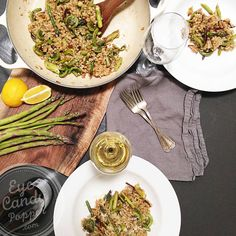 Meatless Monday: Barley risotto with fiddleheads and asparagus (vegan, wheat-free)
