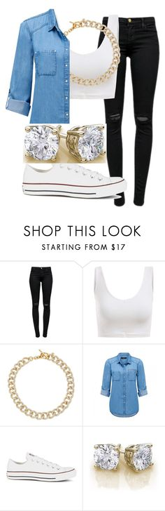 """Untitled #29"" by mira-alsina ❤ liked on Polyvore featuring J Brand, Michael Kors, Forever New and Converse"