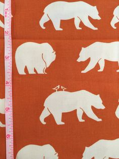 Bear Hike Orange by Jay-Cyn for Birch Fabrics Organic Cotton by BungalowQuilting on Etsy