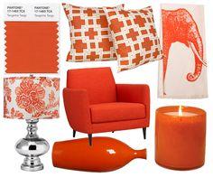 NOIR BLANC un style - LOVING this red orange