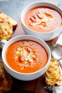 Creamy Roasted Tomato Basil Soup - Cafe Delites