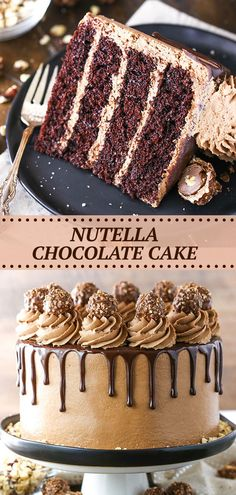 Nutella Chocolate Cake, Nutella Icing, Chocolate Cake Recipe Easy, Chocolate Pasta, Chocolate Deserts, Baking Chocolate, Dessert Cake Recipes, Best Cake Recipes, Chocolate Belga