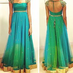 """53 Likes, 8 Comments - @thesaristory on Instagram: """"I love the colours of this @kanumilli gown! """""""